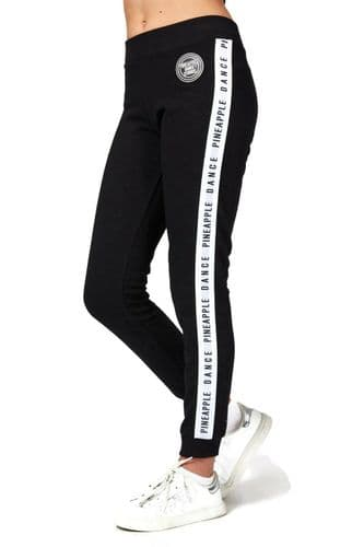 PINEAPPLE DANCEWEAR Girls Dance Stripe Jaquard Joggers Sweat Pants Black